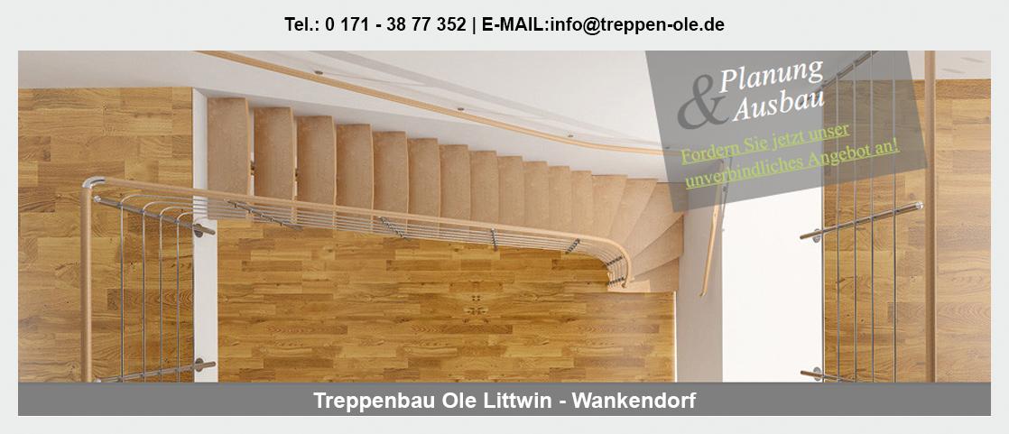 Treppen im Raum Klein Gladebrügge - Treppenbau Ole Littwin: Innentreppe, Tischlerei, Altbausanierung|TreppenmodernisierungHolztreppe