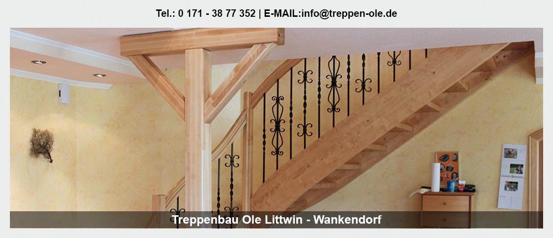 Treppen in der Nähe von Mühlenbarbek - Treppenbau Ole Littwin: Innentreppe, Tischlerei, Altbausanierung|TreppenmodernisierungHolztreppe