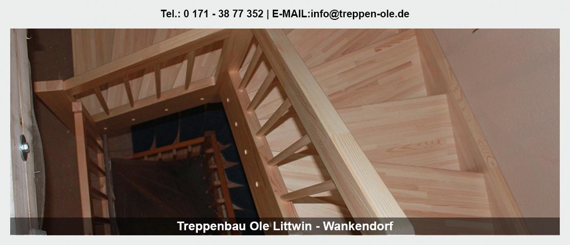 Treppen bei Bordesholm - Treppenbau Ole Littwin: Zimmerei, Holzbau, HolztreppeAltbausanierung|Treppenmodernisierung